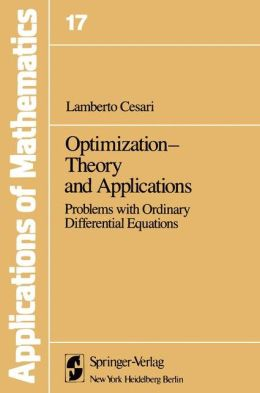 Optimization--Theory and Applications: Problems with Ordinary Differential Equations