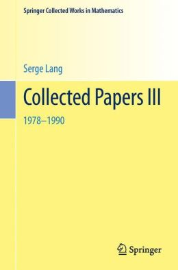 Collected Papers III: 1978-1990