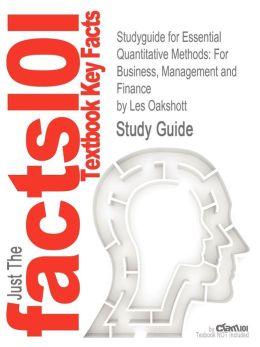 Studyguide for Essential Quantitative Methods: For Business, Management and Finance by Oakshott, Les, ISBN 9780230218185