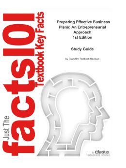 e-Study Guide for Preparing Effective Business Plans: An Entrepreneurial Approach, textbook by Bruce R. Barringer