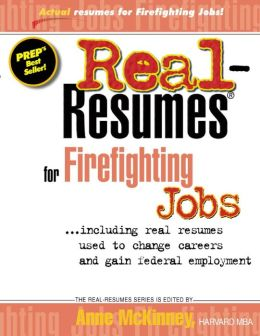 Real Resumes for Firefighting Jobs