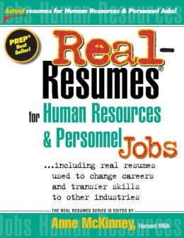 Real-Resumes for Human Resources and Personnel Jobs