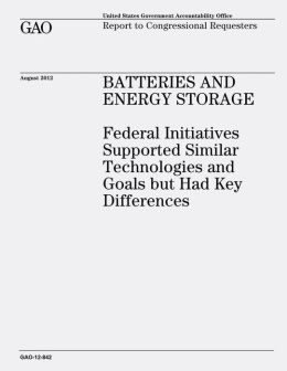 Batteries and Energy Storage: Federal Initiatives Supported Similar Technologies and Goals But Had Key Differences (GAO-12-842)