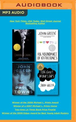 John Green Audiobook Collection on MP3-CD: Looking for Alaska, An Abundance of Katherines, Paper Towns, The Fault in Our Stars