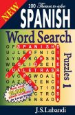 Book Cover Image. Title: New SPANISH Word Search Puzzles, Author: J S Lubandi