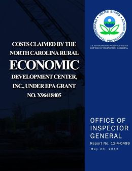 Costs Claimed by the North Carolina Rural Economic Development Center, Inc., Und