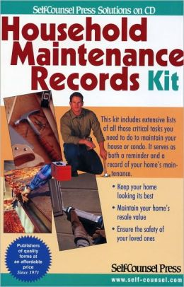 Household Maintenence Records Kit