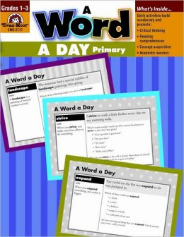 A Word a Day: Grades 1-3