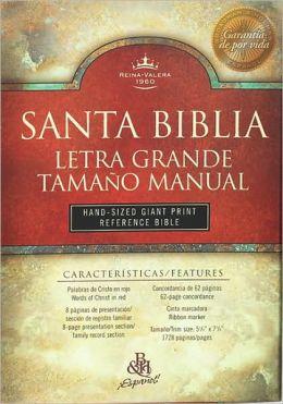 RVR 1960 Bíblia Letra Grande Tamaño Manual con Referencias, negro imitación piel con índice