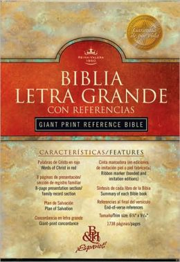 RVR 1960 Biblia Letra Grande con Referencias, negro imitación piel