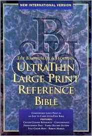 Large Print (10 Point) Reference Bible, Ultrathin Edition: New International Version (NIV), burgundy bonded leather, center-referenced