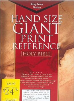 KJV Giant Print Reference Bible, Burgundy Genuine Leather Indexed