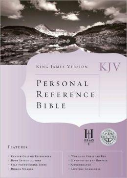 KJV Cornerstone Personal Reference Bible (Burgundy Bonded Leather) (King James Version) Holman Bible Editorial Staff
