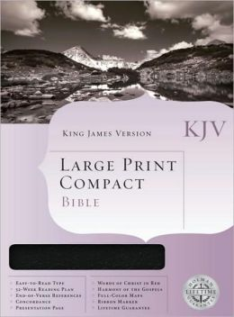 KJV Large Print Compact Bible, Blue Bonded Leather