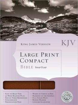 KJV Large Print Compact Bible, Chestnut Bonded Leather with Magnetic Flap