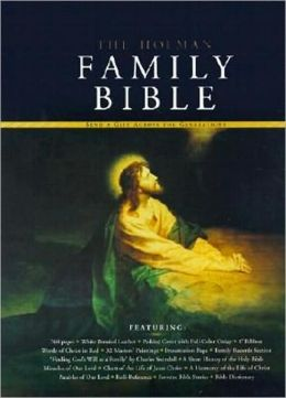 KJV Holman Family Bible Deluxe Edition, White Bonded Leather