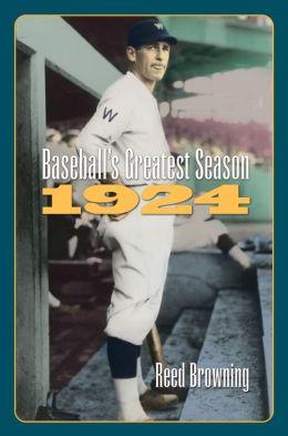 Baseball's Greatest Season,1924