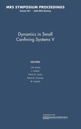 Dynamics in Small Confining Systems V, Volume 651