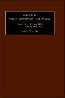 Research In Organizational Behaviour