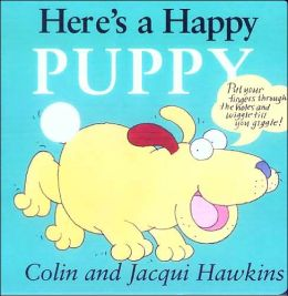 Here's a Happy Puppy: Finger Wiggle Board Book