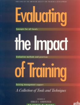 Evaluating the Impact of Training: A Collection of Tools and Techniques
