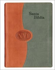 NVI Spanish Larger Print Bible - DuoTone Brick/Gray