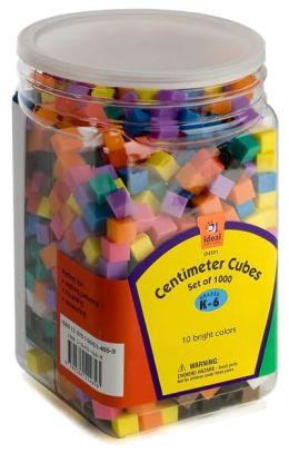 Centimeter Cubes: Set of 100 (Grades K-6, 10 Bright Colors)