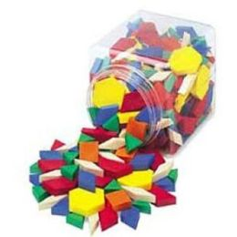 Standard Plastic Pattern Blocks Set of 250 Grades K-6: 6 different shapes in 6 colors 0.5 cm thick Activities included