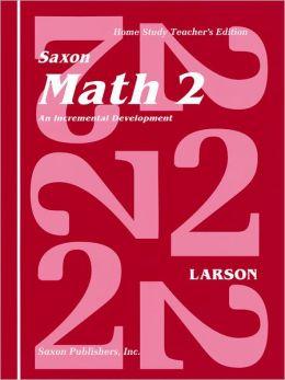 Saxon Math 2 Homeschool: Teacher's Manual 1st Edition 1994