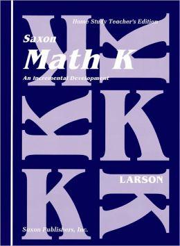 Saxon Math K Homeschool: Complete Kit 1st Edition