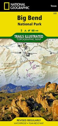 Big Bend National Park, Texas Map