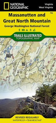 Massanutten/Great North Mountains, Virginia/West Virginia Map