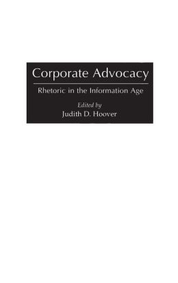Corporate Advocacy: Rhetoric in the Information Age