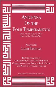 Avicenna on the Four Temperaments: Cold and Dry, Cold and Wet, Hot and Dry, Hot and Wet
