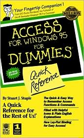 Access for Windows 95 for Dummies Quick Reference