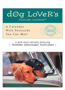 2004 Dog Lover's Postcard Easel Calendar