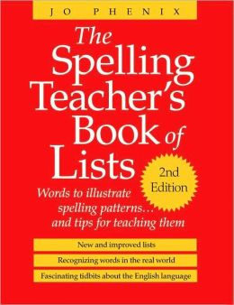 Spelling Teacher's Book of Lists