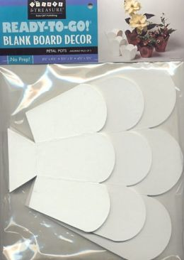 Ready-to-Go! Blank Board Decor Petal Pots
