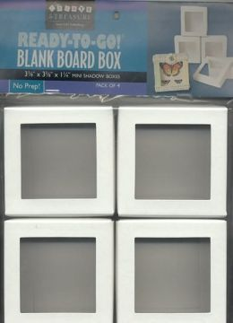 Ready-to-Go! Blank Board Box Mini Shadow Boxes