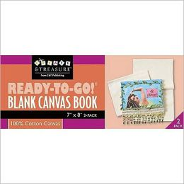 Ready-to-Go! Blank Canvas Book 7 x 8: Play with It! Embellish Alter Bead Quilt Paint Stamp