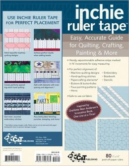 Inchie Ruler Tape: Easy Accurate Guide for Quilting, Crafting, Painting & More