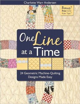 One Line at a Time: 24 Geometric Machine-Quilting Designs Made Easy (PagePerfect NOOK Book)