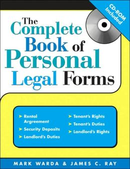 Complete Book of Personal Legal Forms with CD, 3E