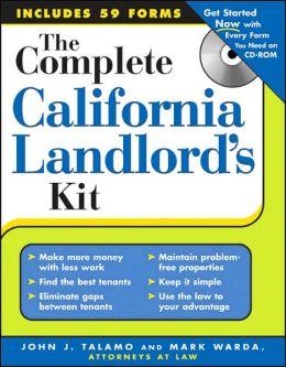 Complete California Landlord¿s Kit + CD-ROM