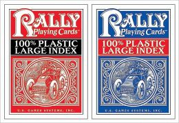 100% Plastic Large Index Rally Playing Cards
