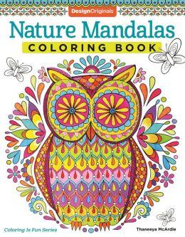 Nature mandalas coloring book by thaneeya mcardle Coloring book barnes and noble