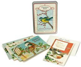 Glitter Holiday Birds Postcards 12 Assorted