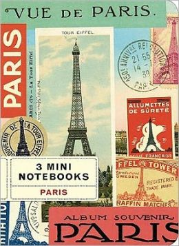 Vintage Paris Travel Paper Bound Mini Journals 4 X 5.5 Set of 3