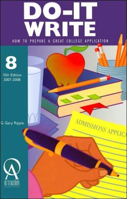 Do-It Write: How to Prepare a Great College Application