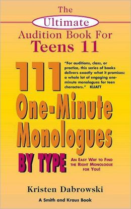 111 One-Minute Monologues by Type